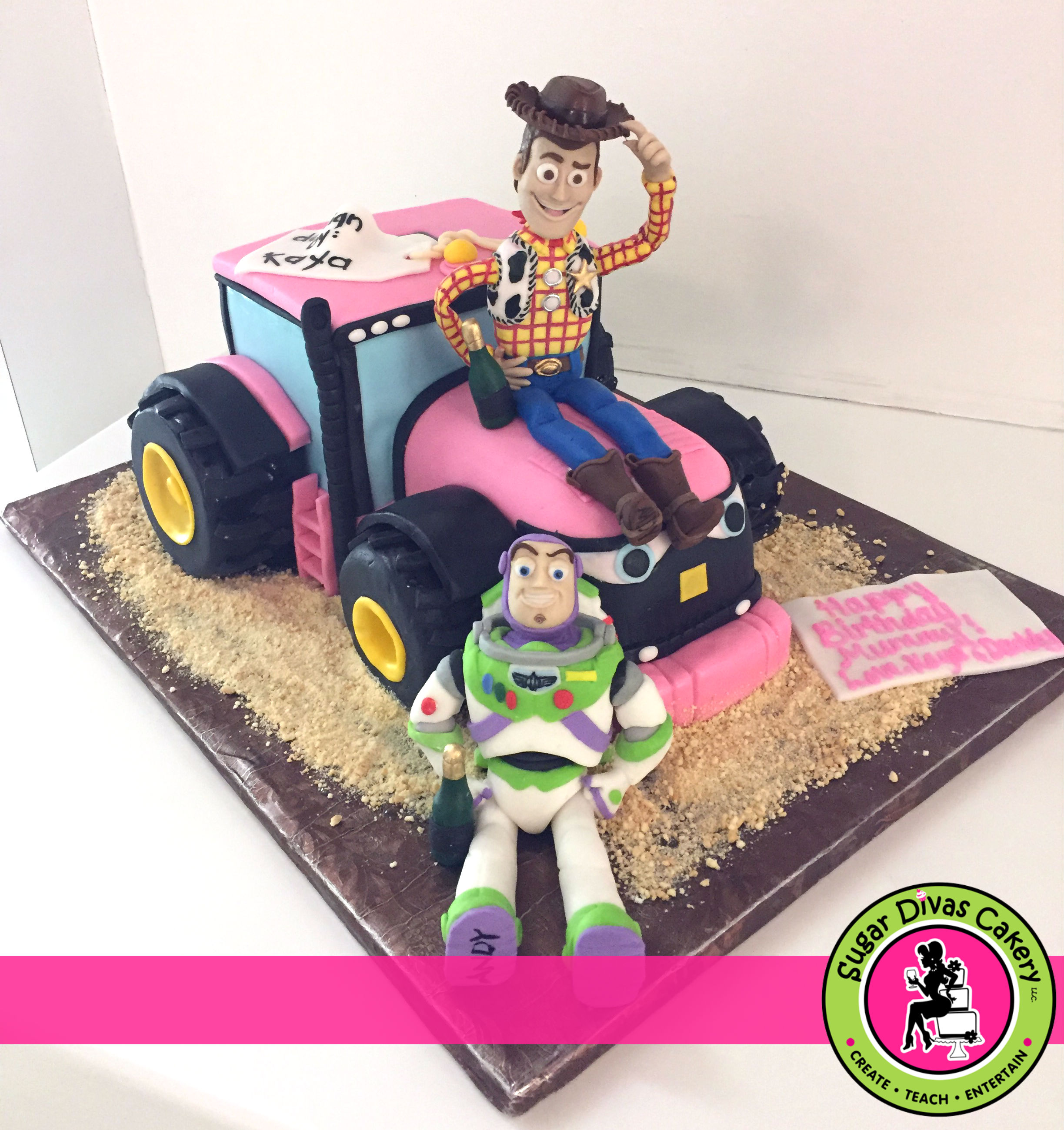 buzz woody toy story tractor