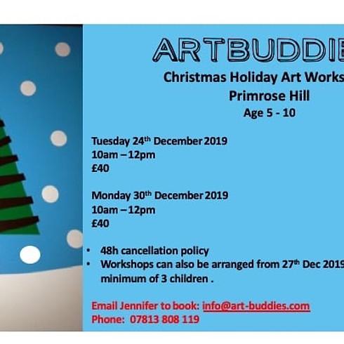 ARTBUDDIES Christmas Holidays Art Workshops