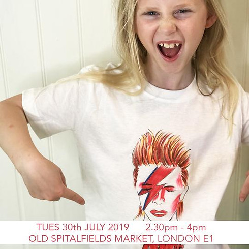 Design a David Bowie T-shirt - Children's Workshop