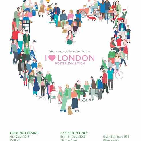 I 💗 London Exhibition Opening