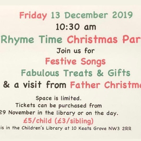 Rhyme Time Christmas Party
