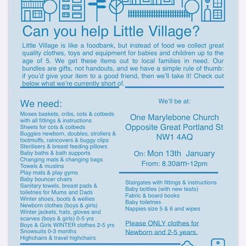 Little Village Donation Drop-Off Day
