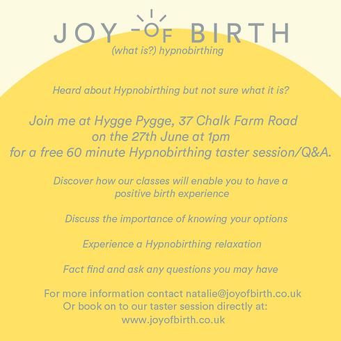 'JOY OF BIRTHING' FREE hypnobirthing master session