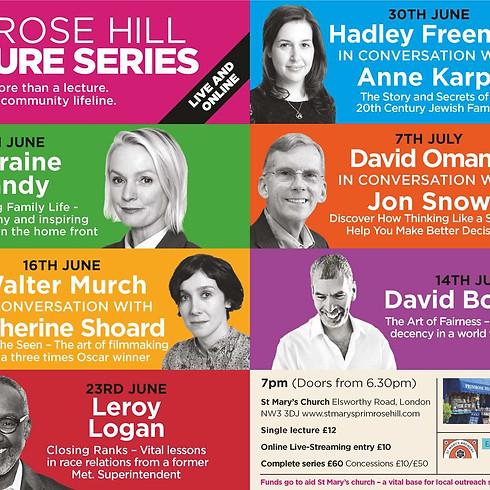 Primrose Hill Lecture Series - David Bodanis