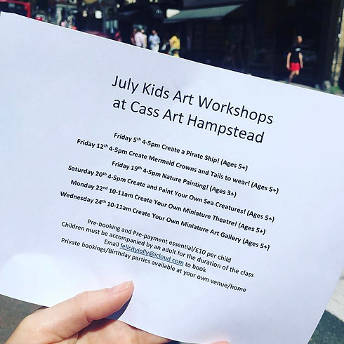 July Kids Art Workshops