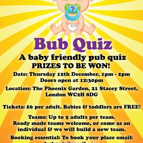BUB QUIZ - the baby friendly pub quiz