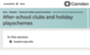 Camden Council after-school clubs & holiday playschemes