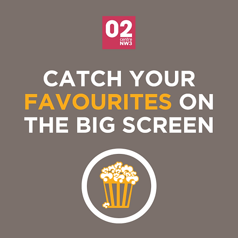 Watch the latest movies at the O2 Centre