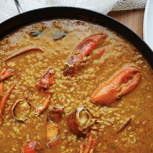 Creamy Lobster Paella COOKING WORKSHOP