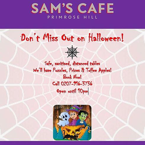 Halloween at Sam's Cafe