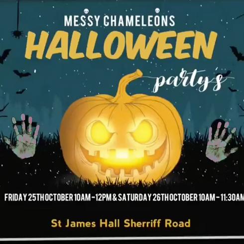 Messy Chameleons Halloween Party