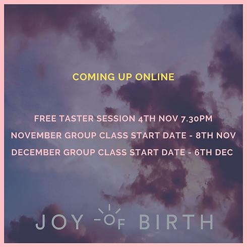 Joy Of Birth FREE TASTER CLASS