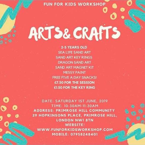 Arts & Crafts FUN FOR KIDS WORKSHOP (6-9 yrs old)