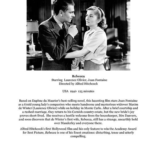 'Rebecca' film screening