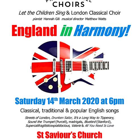 'England in Harmony' Primrose Hill Choir & Children's Choir concert