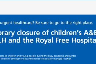 Emergency Services for children and young people are now CLOSED at UCLH and the Royal Free