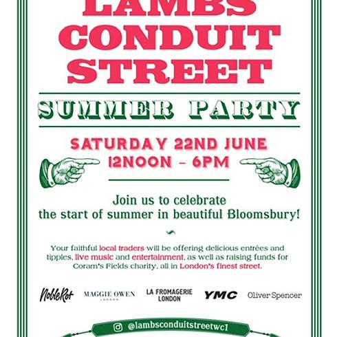 Lamb's Conduit Street Summer Party
