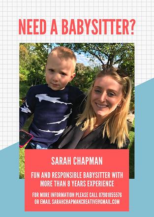Sarah Chapman, Babysitter
