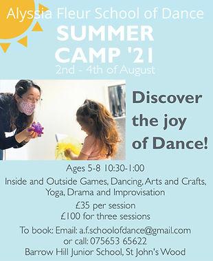 Summer Camp Alyssia Fleur School of Dance