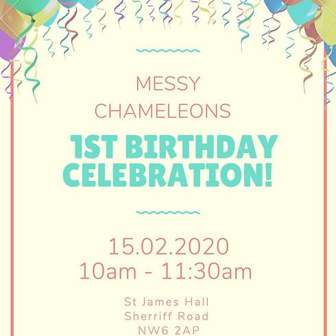 Messy Chameleons BIRTHDAY PARTY messy play