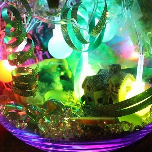 Sunday Crafty Afternoon Terrarium Fairy Gardens 12th May 1st session