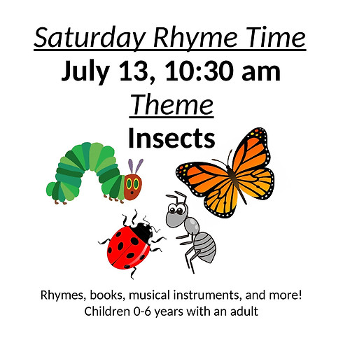 Rhyme Time 'Insects' at Primrose Hill Library