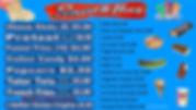 Skate Odyssey Menu Board Snacks June 29,