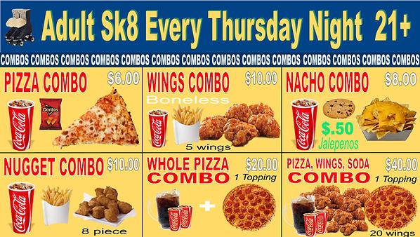 Skate Odyssey Menu Combo Meals March 2,