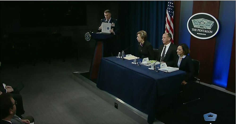 Photo of  DOD Officials Discussing Cyber Security Standards