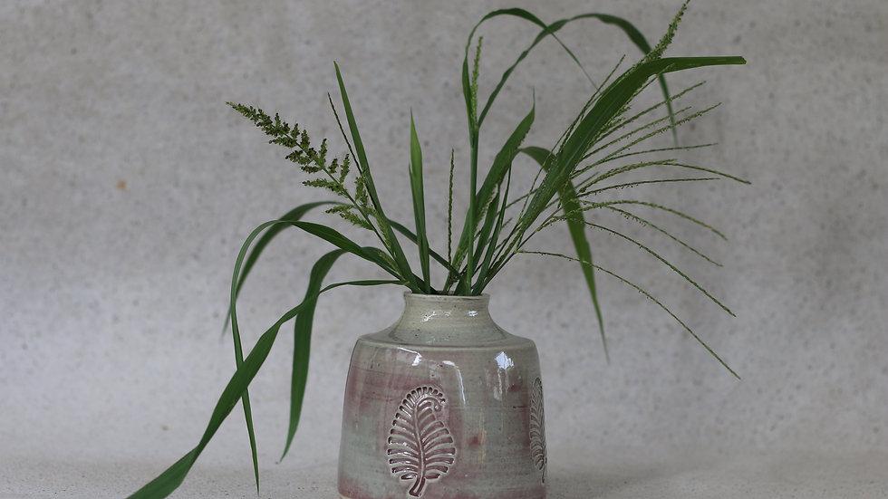 Glossy purple vase