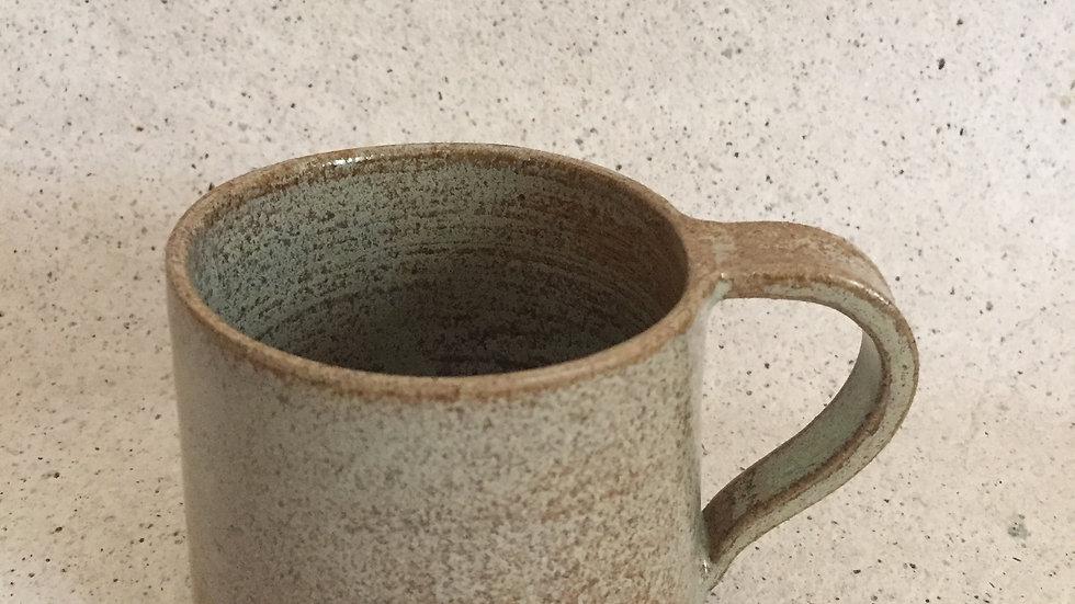 Set of 2 - Green brown textures tea cups