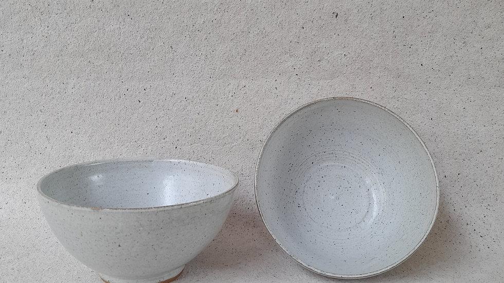 Set of 2 - speckled blue bowls