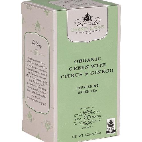 Organic Green with Citrus & Ginko Tea