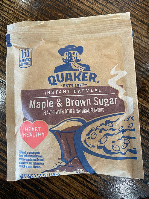 Quaker Instant Oatmeal - Maple & Brown Sugar (1 packet)