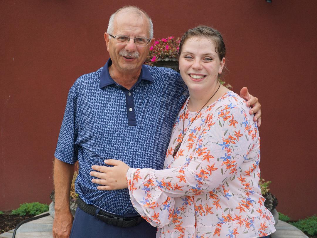 Natalie Kay Flarhety and her grandfather.