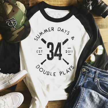PLAYER NUMBER - Raglan T-shirt