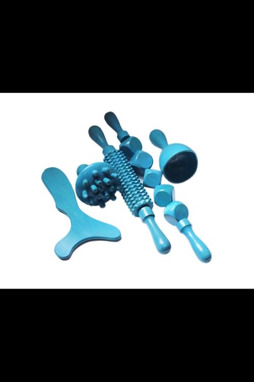 Blue wood sculpting kit