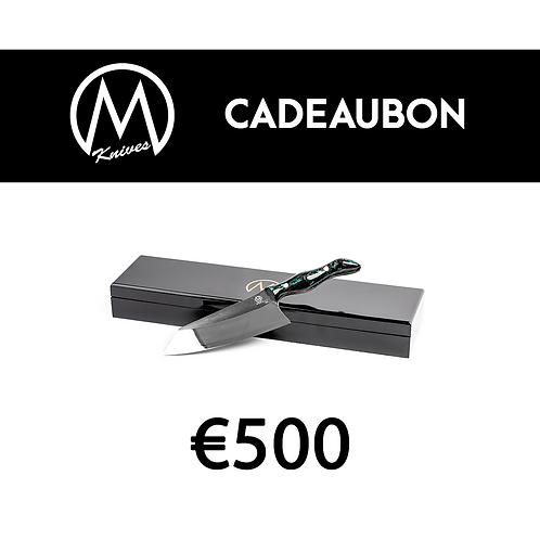 Cadeaubon Mknives €500