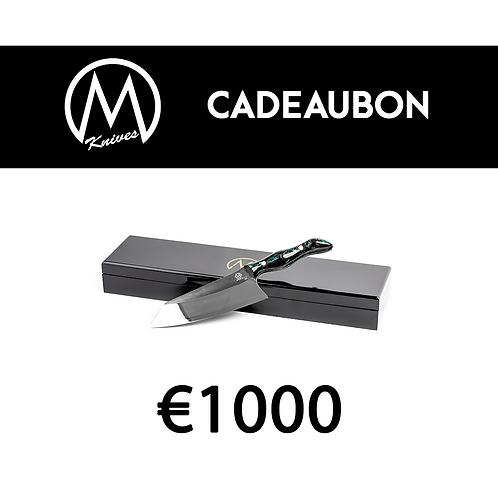 Cadeaubon Mknives €1000