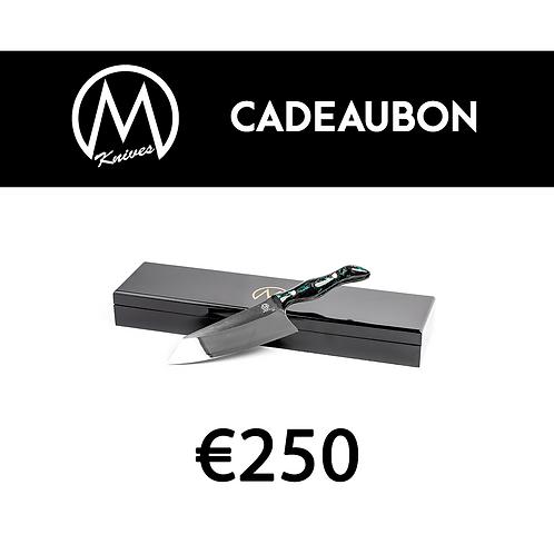 Cadeaubon Mknives 250 euro