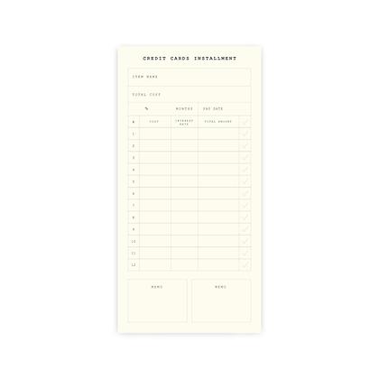 "Planner Sticker | SET F : ""CREDIT CARDS INSTALLMENT"""