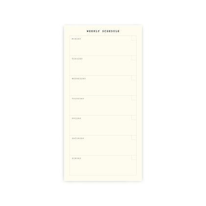 "Planner Sticker | SET I : ""WEEKLY PLANNER VERTICAL"""