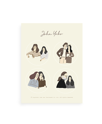 'Love is you' John & Yoko sticker
