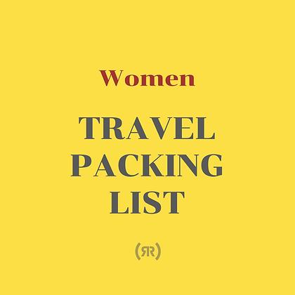 Printable Travel Packing List (For Women)