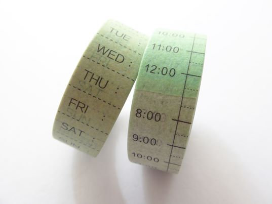 Date & Time | Planner Masking Tape