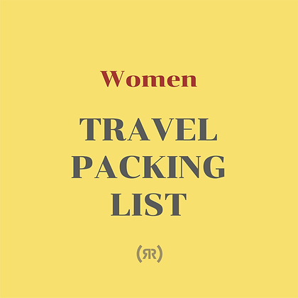 Printable Travel Packing List (For WoMen)