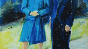 """ภาพวาด """" ในหลวงและพระราชินี """" โดยครูเบิร์น"""