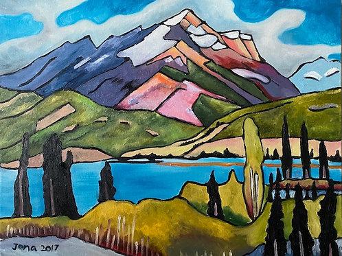 Vivid Mountainscape