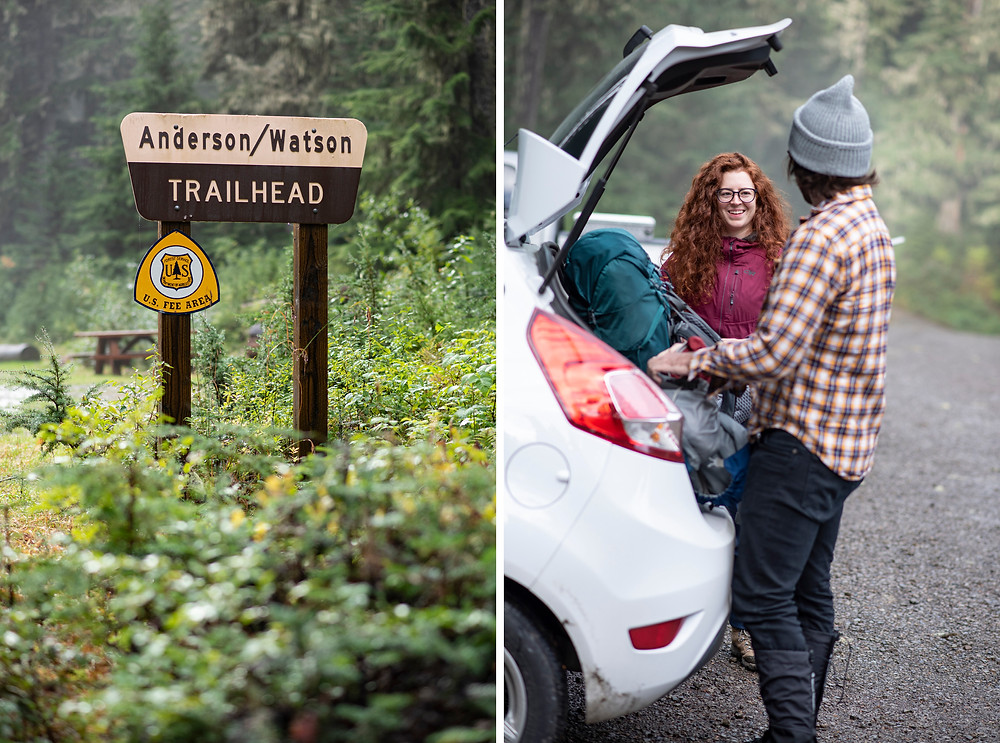 Anderson-Watson Trailhead with Hikers at Car