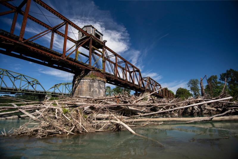 old railroad bridge skagit river